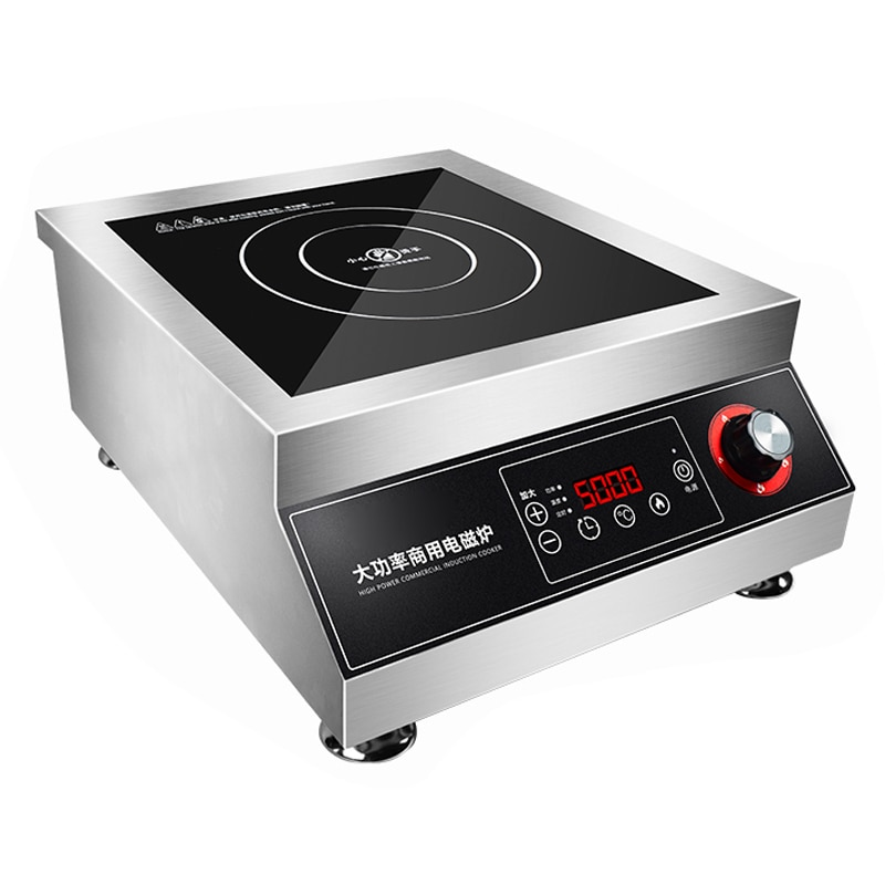 طباخ التعريفي التجاري 5000 واط عالية الطاقة شقة مطهو ببطء حساء اللحم طباخ 5kw تحريك زريعة التجارية التعريفي طباخ