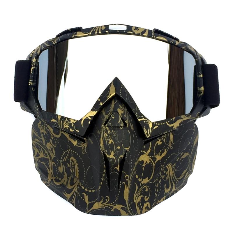 Skiing Eyewear Windproof Motocross Sunglasses Outdoor Cycling Glasses Goggles Skull Mask Bike Bicycle