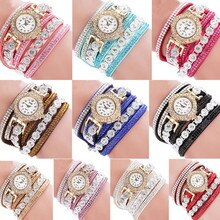 Women Fashion Stainless Steel Bracelet Casual Analog Quartz Women Rhinestone Watch Bracelet брас