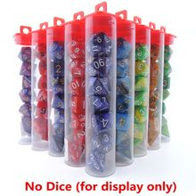 Dice Packing Tube For DND D&D 7pcs Polyhedral Dice D4,D6,D8,D10,D10%,D12,D20 U50F