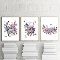 tooth implant wall art canvas painting posters prints dental medicine anatomy dentist gift clinic office wall decor