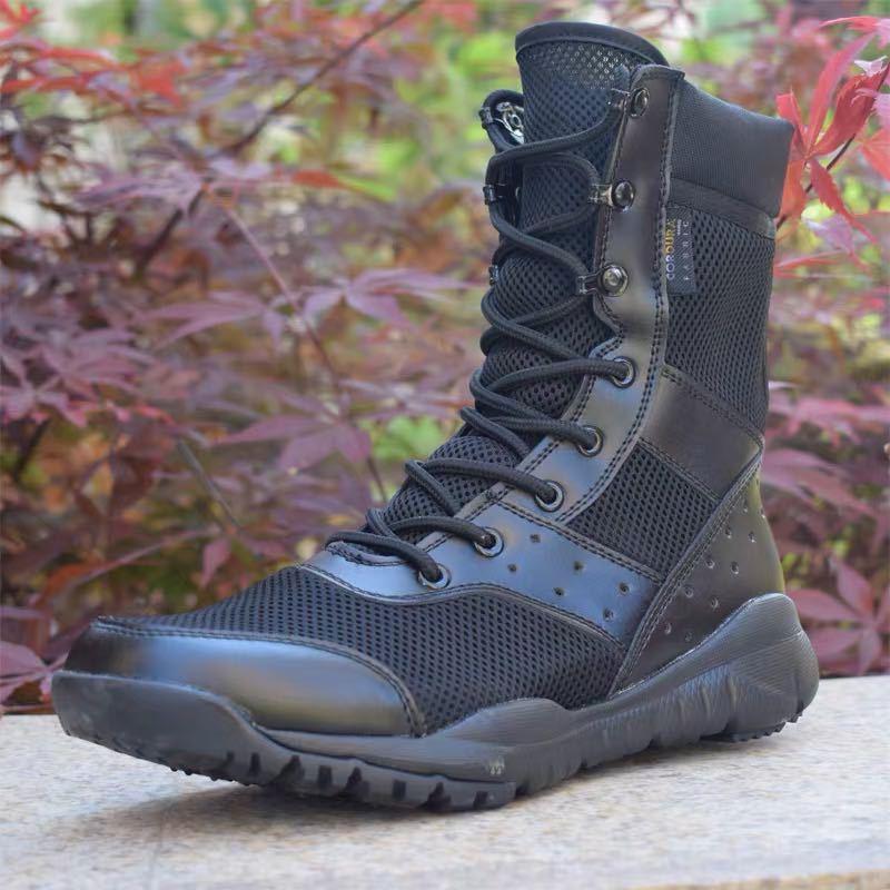 AliExpress - Summer Combat Boot Men Women Climbing Training Lightweight Waterproof Tactical Boots Outdoor Hiking Breathable Mesh Army Shoes