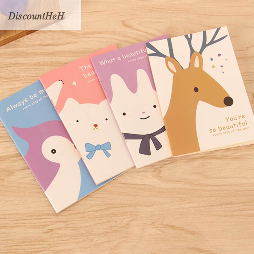 1pc Cute Mini Vintage Flower Notebook Lovely Animal Notepads Kids Gifts Korean School Stationery 8*12cm