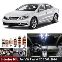 12pcs white canbus led car light blubs interior lights kit for vw passat cc 2009 2013 2014 dome map trunk vanity mirror lamp