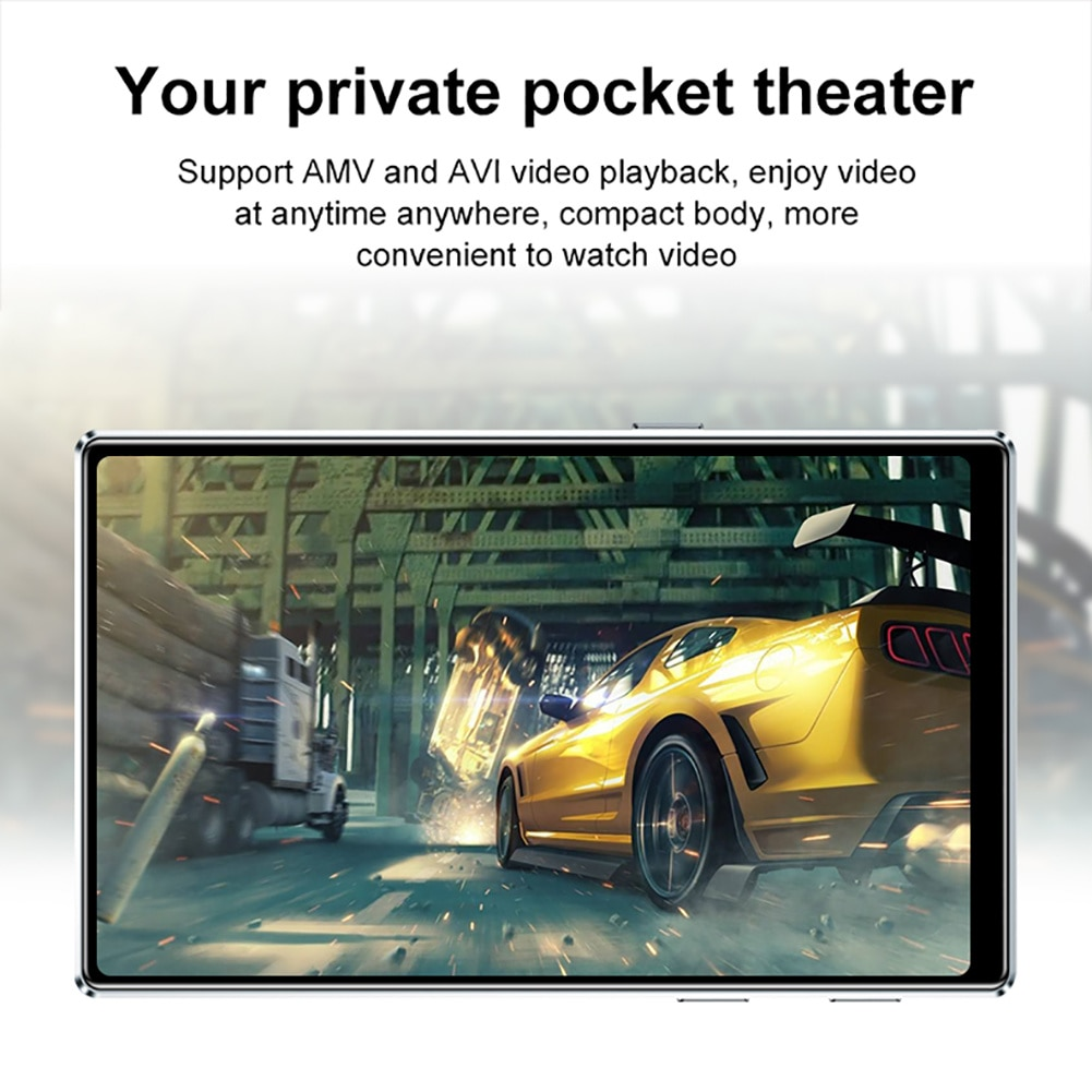 M9 Bluetooth5.0 MP4 Player 4.0 Inch Full Touch Screen FM Radio Recording E-book Music Video Player Built-in Speaker enlarge