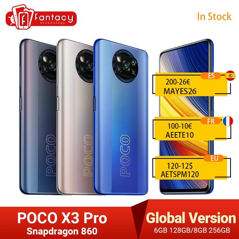 POCO X3 Pro النسخة العالمية سناب دراجون 860 الهاتف الذكي 120Hz DotDisplay 5160mAh 33W NFC رباعية AI الكاميرا