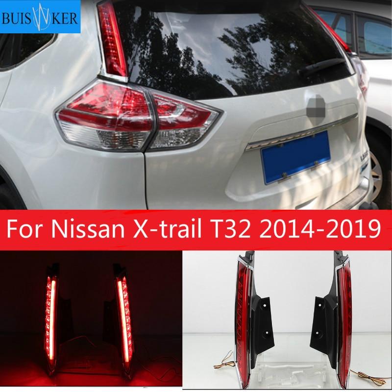2 uds. De luces de freno para Nissan x-trail T32 2014-2019 luz LED trasera de coche, luz de freno, Bombilla decorativa para automóvil