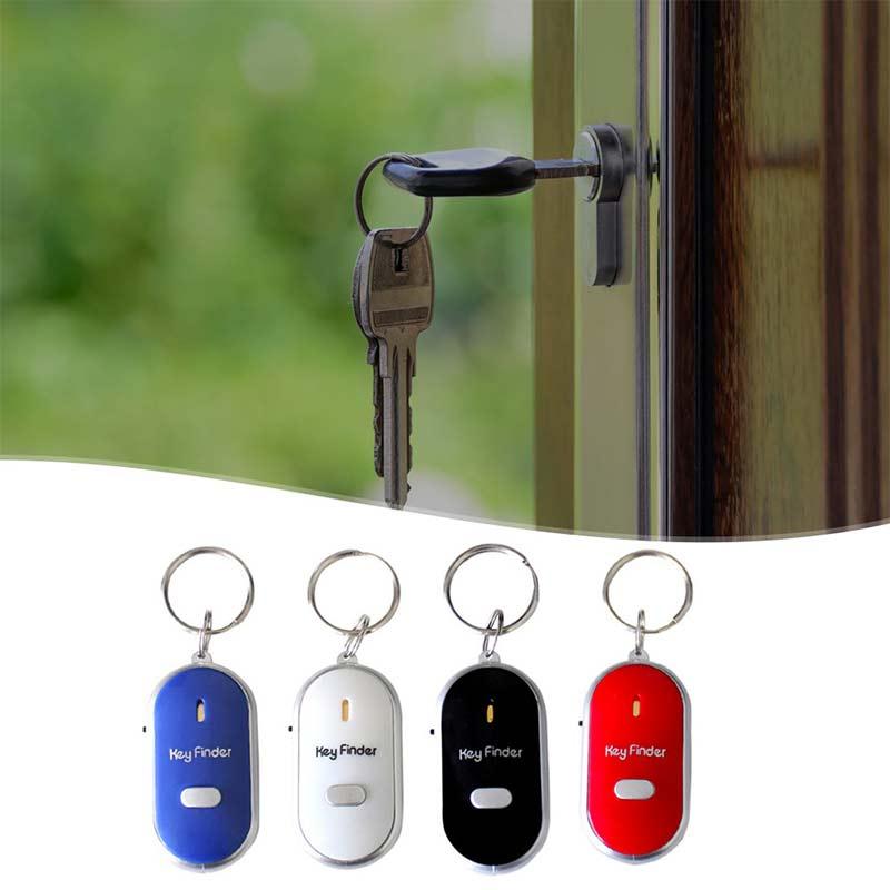 Key anti-loss device Mini portable whistle sound control LED light flashlight