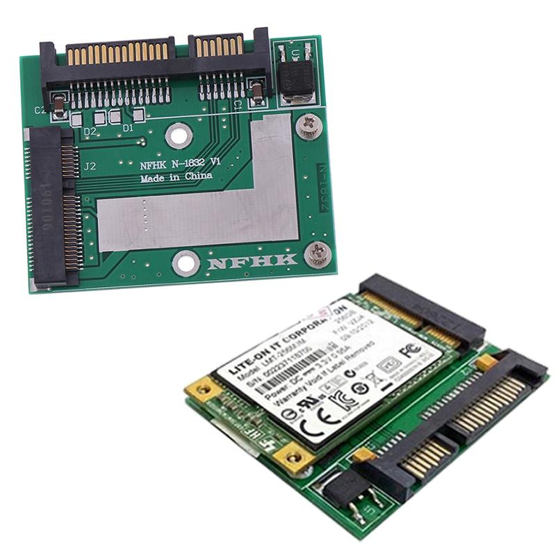 Wholesale 2020 MSATA SSD To 2.5'' SATA 6.0gps Adapter Converter Card Module Board Mini Pcie Ssd kingshare ks amast2 msata to sata 3 converter adapter card