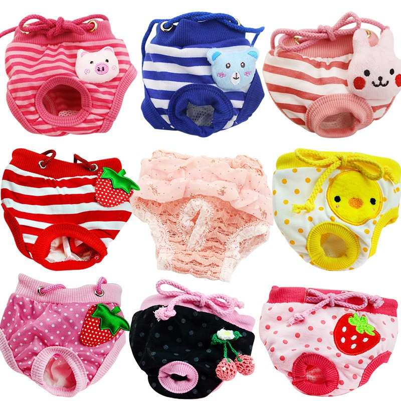 Female Pet Dogs Physiological Menstrual Hygiene Pants Estrus Small Puppy Cat Clothes Dog Panties Jeans