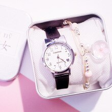 Mode mignon femmes montres Bracelet en cuir décontracté Bracelet belle dames montre-Bracelet 2020 coeur forme échelle horloge Relogio Feminino