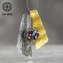خمر قلادة طويلة للنساء مجوهرات المعلقات الملونة الحجر الطبيعي حبل ملحقات السلسلة سبائك الزنك موضة بالجملة 2020