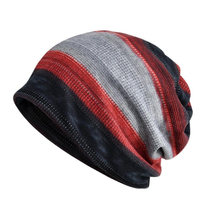 Beanies Cap Scarf Cotton Stretch Sun Hat Autumn Winter Cycling Neck Warmer Head Wear