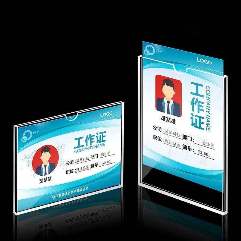 Acrylic Sign Holder Display Frame Name Card Label Holder Menu Paper Poster Frame недорого