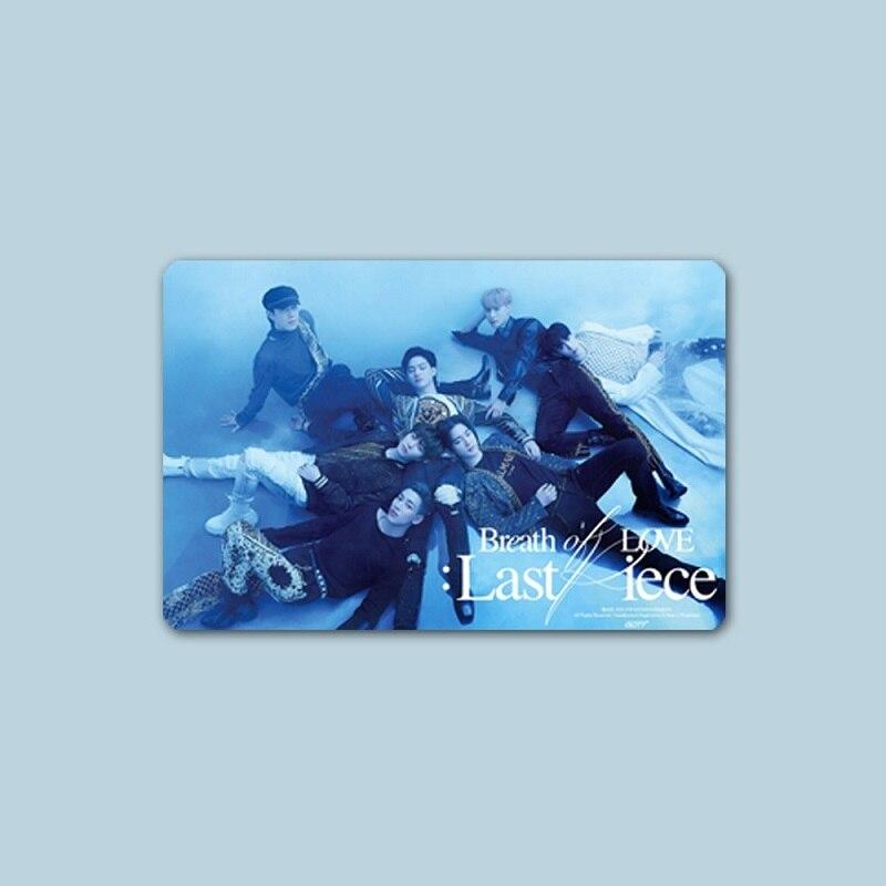 KPOP GOT7 новый альбом Дыхание любви: последняя часть наклейка для периферийных кристальных карт автобусная карта банковские карты стикер