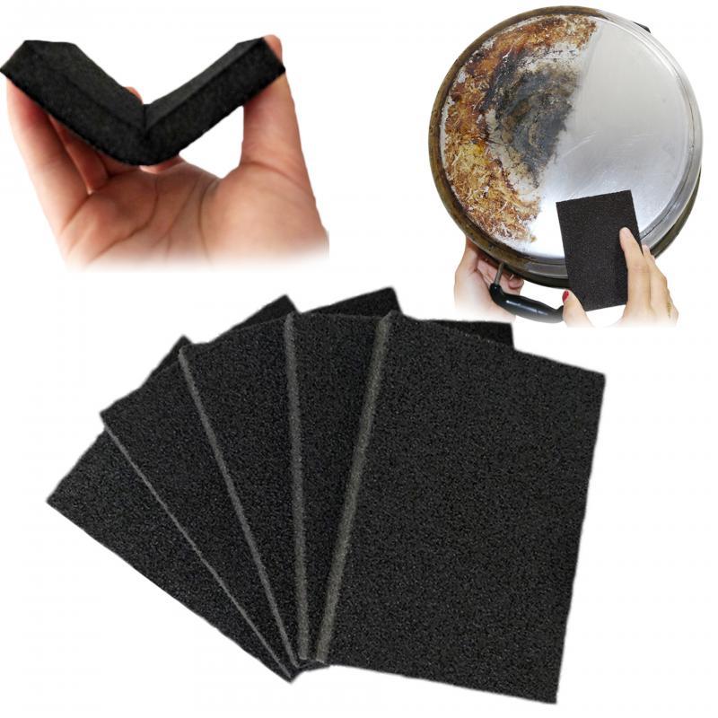 Nano esponja cocina Nano esmeril Magic Cleaner frotar Pot excepto Puntos Focales de óxido esponja limpieza Accesorios negro esponja eliminación