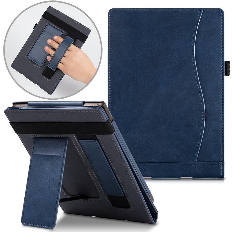 BOZHUORUI para Touch de bolsillo Lux 2/3 eReader-soporte portátil cubierta de cuero para bolso/623/624/625/626/640