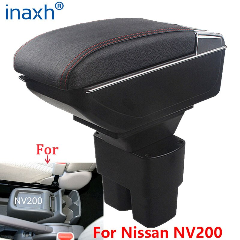 For Nissan NV200 Armrest box Retrofit parts Interior Car Armrest Storage box accessories Retrofit parts USB LED for suzuki swift armrest box 2005 2019 car armrest car accessories interior storage box retrofit parts usb 2011 2014 2017 2018