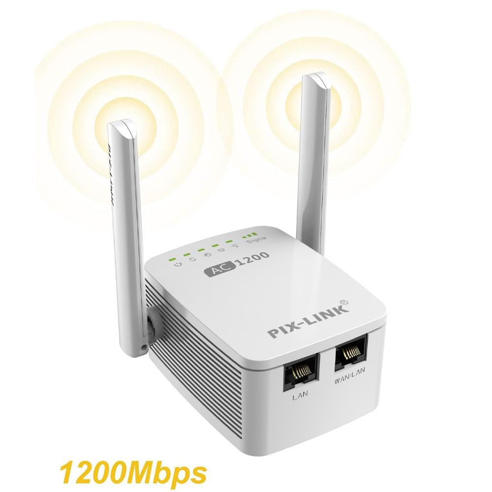 1200mbps 5g wifi repetidor roteador wi-fi extensor 2.4g sem fio wifi de longa distância impulsionador amplificador de sinal wi-fi 5ghz wi fi repiter