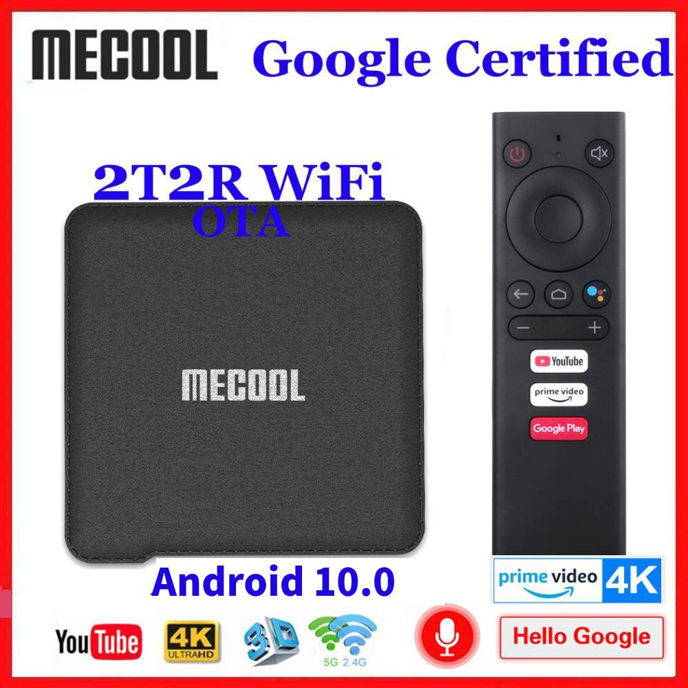 Mecool Google Certified Android 10.0 TV Box KM1 Amlogic S905X3 Android 10 ATV 2T2R WiFi Smart Androi