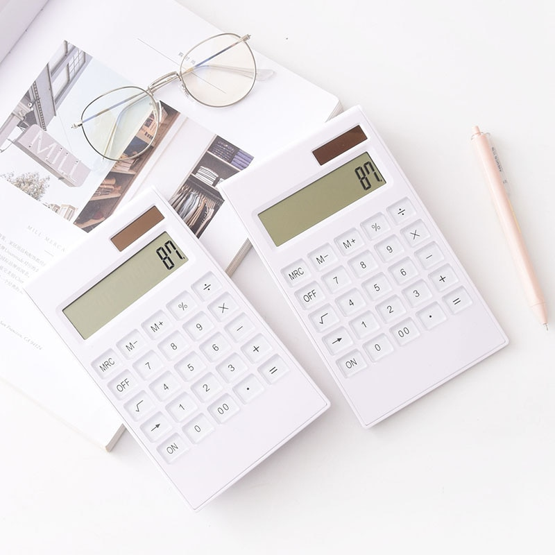 portable solar powered calculator screen 12 digit large lcd display for office daily use lhb99 12 digit crystal key dual power portable large screen calculator financial accounting inventory office household stationery
