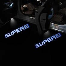2pcs SUPERB Shadow Welcome Light Logo Light For Skoda Superb 2 3 MK2 Car Styling SUPERB Logo Projector Lamp Courtesy Light