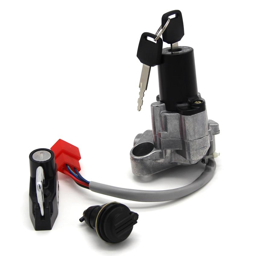 Interruptor chave de ignição da motocicleta combustível gás tampa assento bloqueio kit para yamaha 4tr-82021-00 4tr-82501-01 xvs125 xvs250 xvs400 drag star