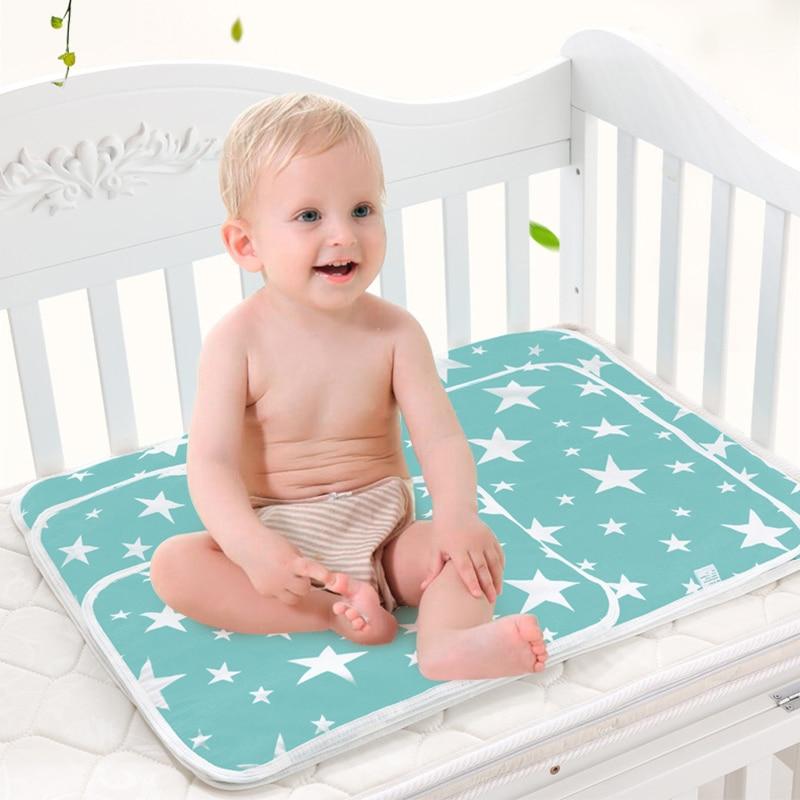 Baby diaper mattress diaper reusable baby changing pad cover newborn cotton waterproof changing pad floor game mat