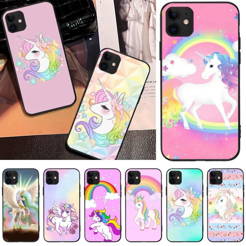 Hanismt unicórnio animais personalizado foto caso de telefone macio para iphone6 6s plus 7 8 7 8 plus x xr xs max 11 pro max capa