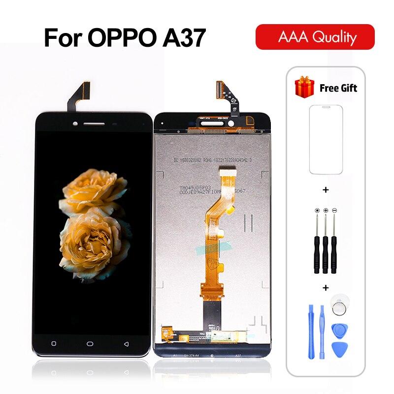 Para pantalla LCD Oppo A37, Panel digitalizador de montaje de pantalla táctil para pantalla Oppo A37 para pantalla Oppo A37, 100% probado con regalos