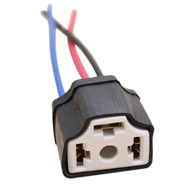 1 pc h4 9003 fio de cerâmica cablagem cabeça do carro lâmpada luz tomada chicote de fios plug super resistente ao calor