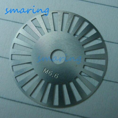 Personalizado M6-6 código gris Placa de código de Metal medidor de codificador fotoeléctrico rueda diámetro exterior 20MM 25 línea código Raster disco