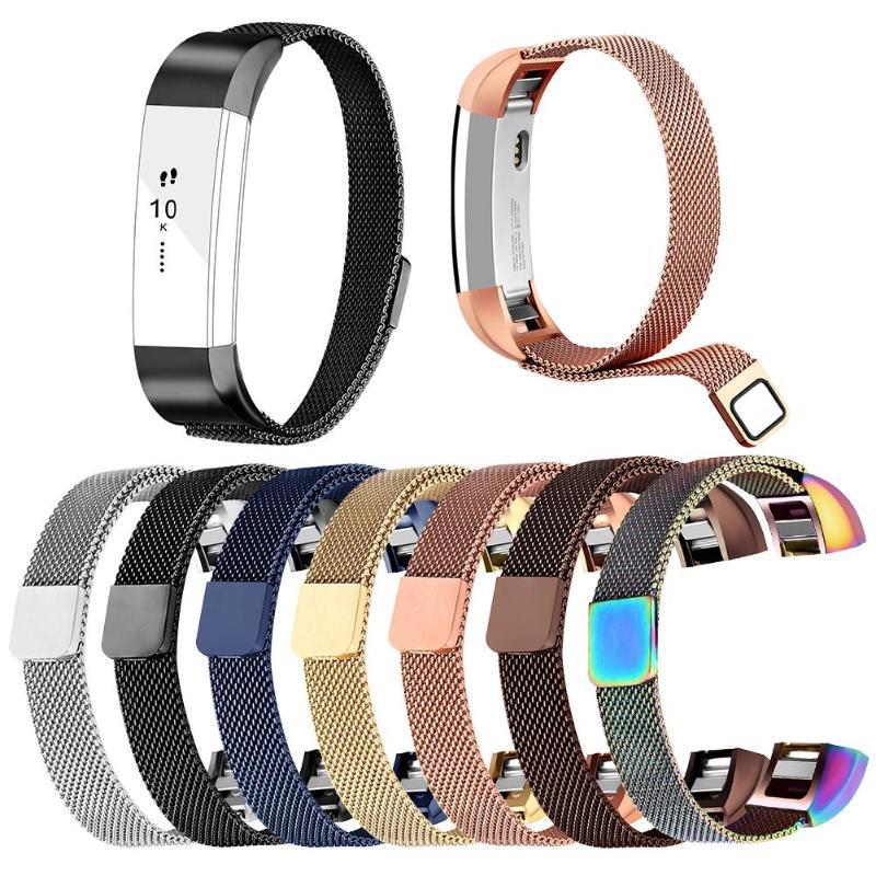 Correa de reloj ajustable de acero inoxidable cinta/correa de muñeca para Fitbit Alta/Alta HR/Alta Ace No daña la correa del reloj