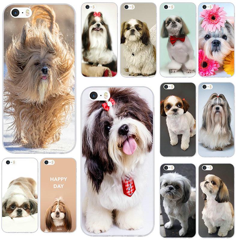 Аниме шицу собака щенков мягкие ТПУ Силиконовые чехлы для мобильных телефонов iPhone 8 7 6 6S Plus X XR XS Max 10 5 5S SE 5C 4 4s чехол Сумки