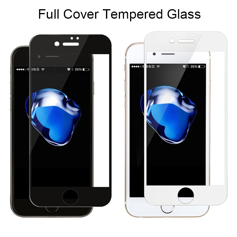 Закаленное стекло для iPhone 7 Plus, Защита экрана для iPhone 6 6s 8 Plus, Защитное стекло для iPhone Xs 11 Pro Max X XS