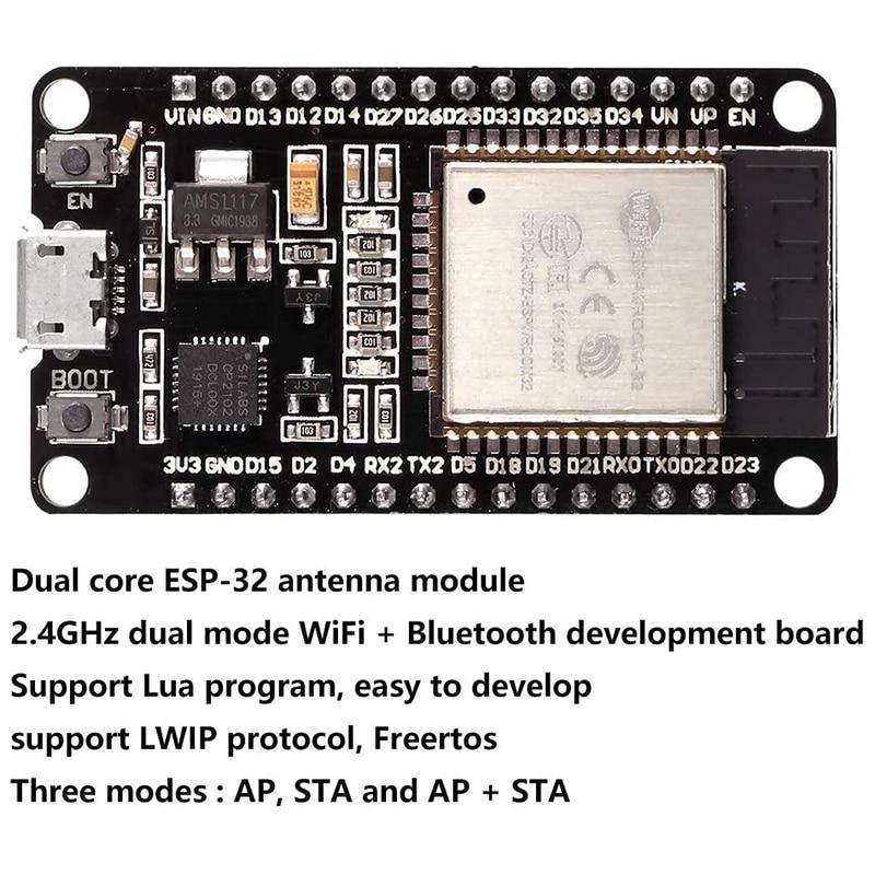 3PCS ESP32 Development Board ESP-32S Microcontroller Processor Integrated Chip CP2102 WiFi NodeMCU-32S ESP-WROOM-32 enlarge