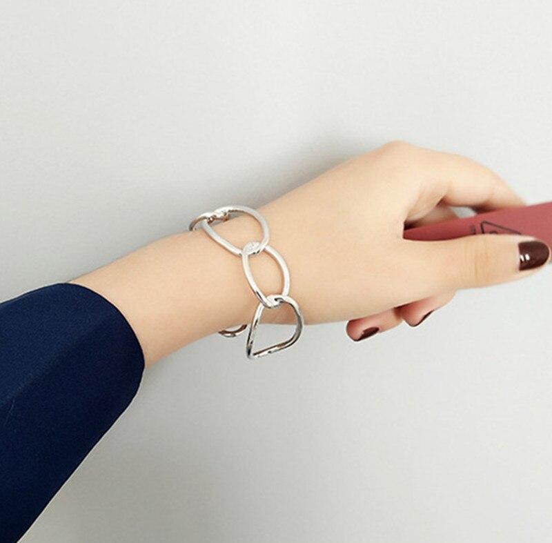 Brazalete minimalista de óvalo hueco con diseño geométrico, brazalete abierto, brazalete femenino, brazalete con personalidad exagerada