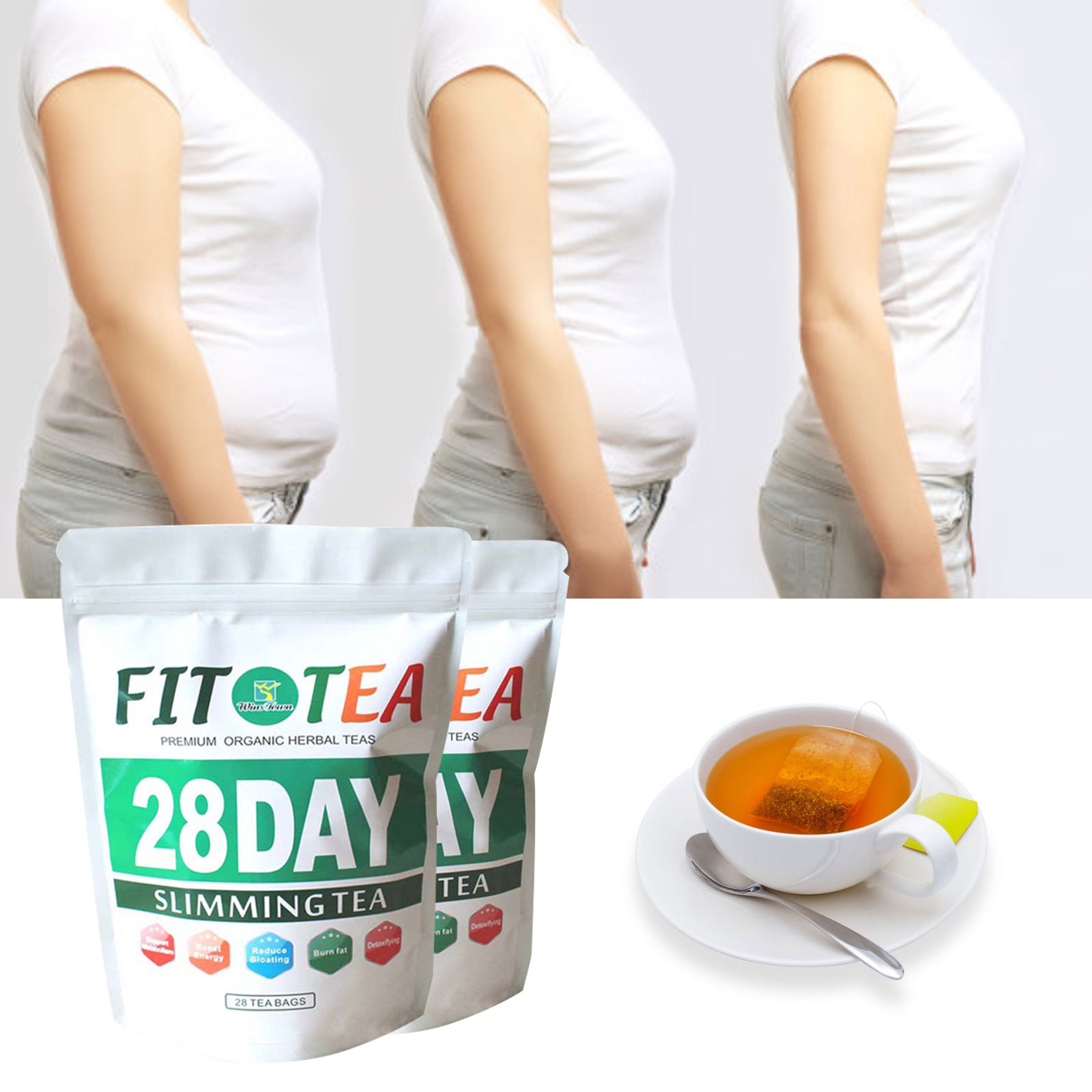 28 Days 100% Pure Natural Detox Bags Colon Cleanse Fat Burn Weight Loss Tea Man Women Tea Belly Slimming Patch Slimming Product