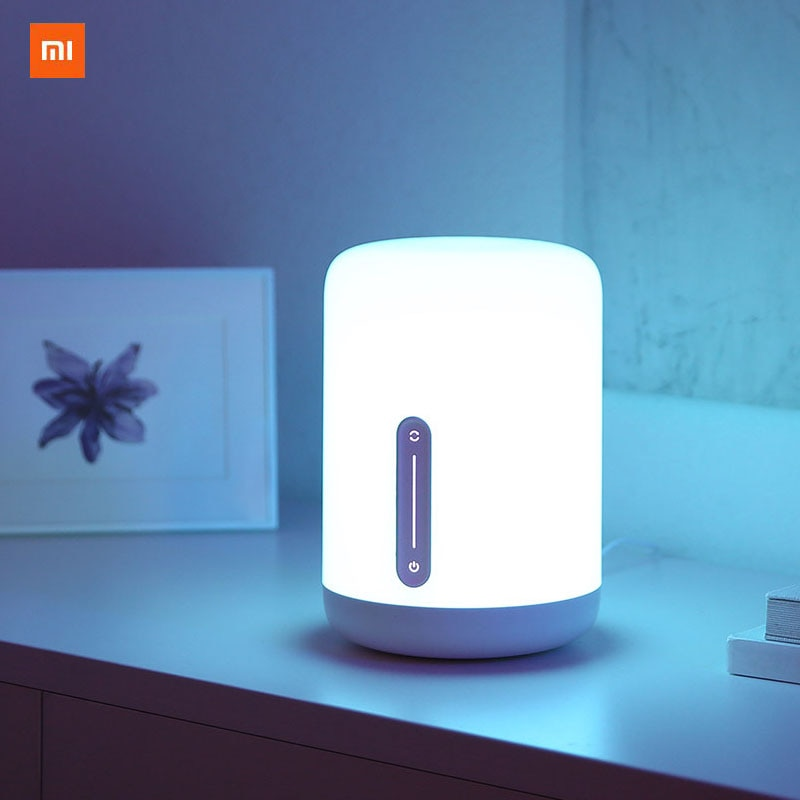 Xiaomi Mijia 2-مصباح السرير الذكي ، مع التحكم الصوتي ، ومفتاح اللمس ، وتطبيق Mi Home ، لمبة Led لساعة Apple Homekit Siri و Xiaoai