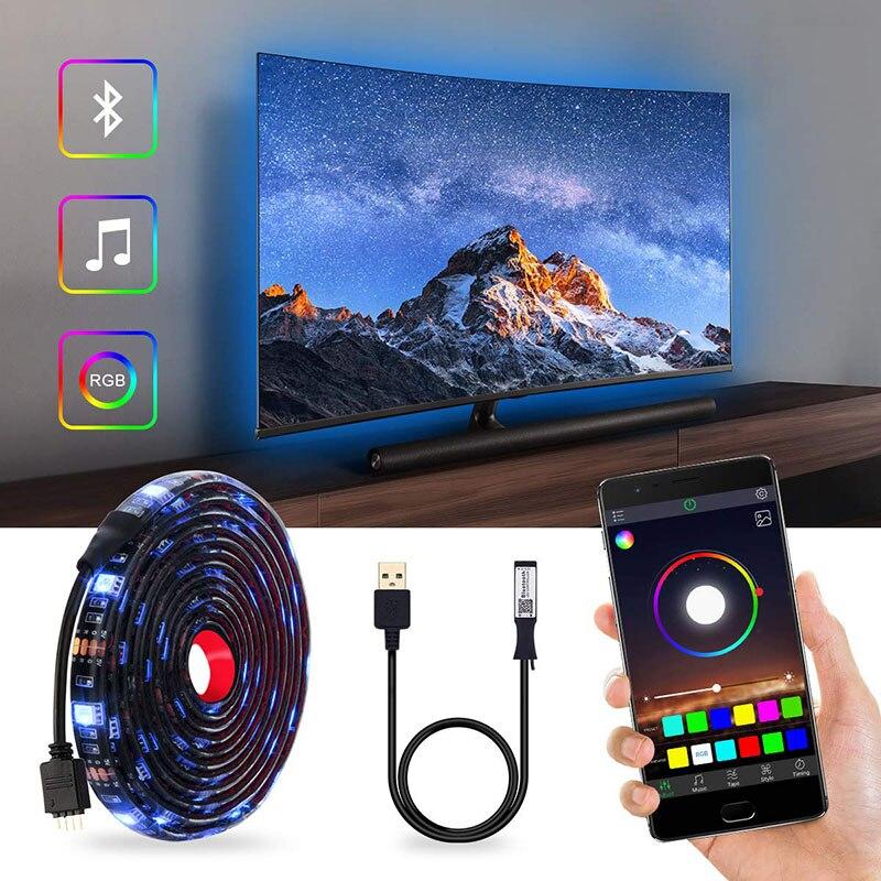 DC5V USB LED streifen 5050 RGB RGBW RGBWW 50CM 1M 2M TV Hintergrund Beleuchtung Flexibe LED streifen klebeband IP20/IP65 wasserdicht