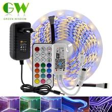 5M Smart rvb RGBW LED bande lumineuse 5050 DC12V WIFI Bluetooth ruban RGB ruban néon + contrôleur WIFI / Bluetooth + adaptateur secteur