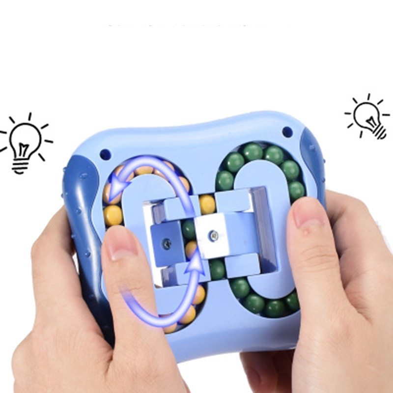 Creative Intelligence Relieve Stress Magic Cube Toy Rotating Magic Beans Fingertip Spinner Cube Children's Finger Gyro Mini Toy enlarge