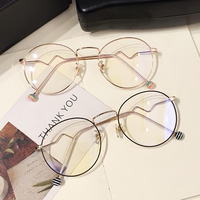 Round Oversize Clear Glasses Women Optical Computer Spectacles Anti Blue Light Eyeglasses Frames Gam