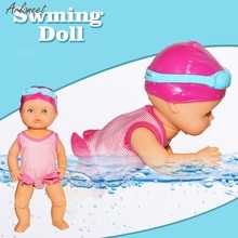 Water Fun Swimming Pool For Waterproof Electric Doll Best Gift Toy For Children Child Miniature Deco