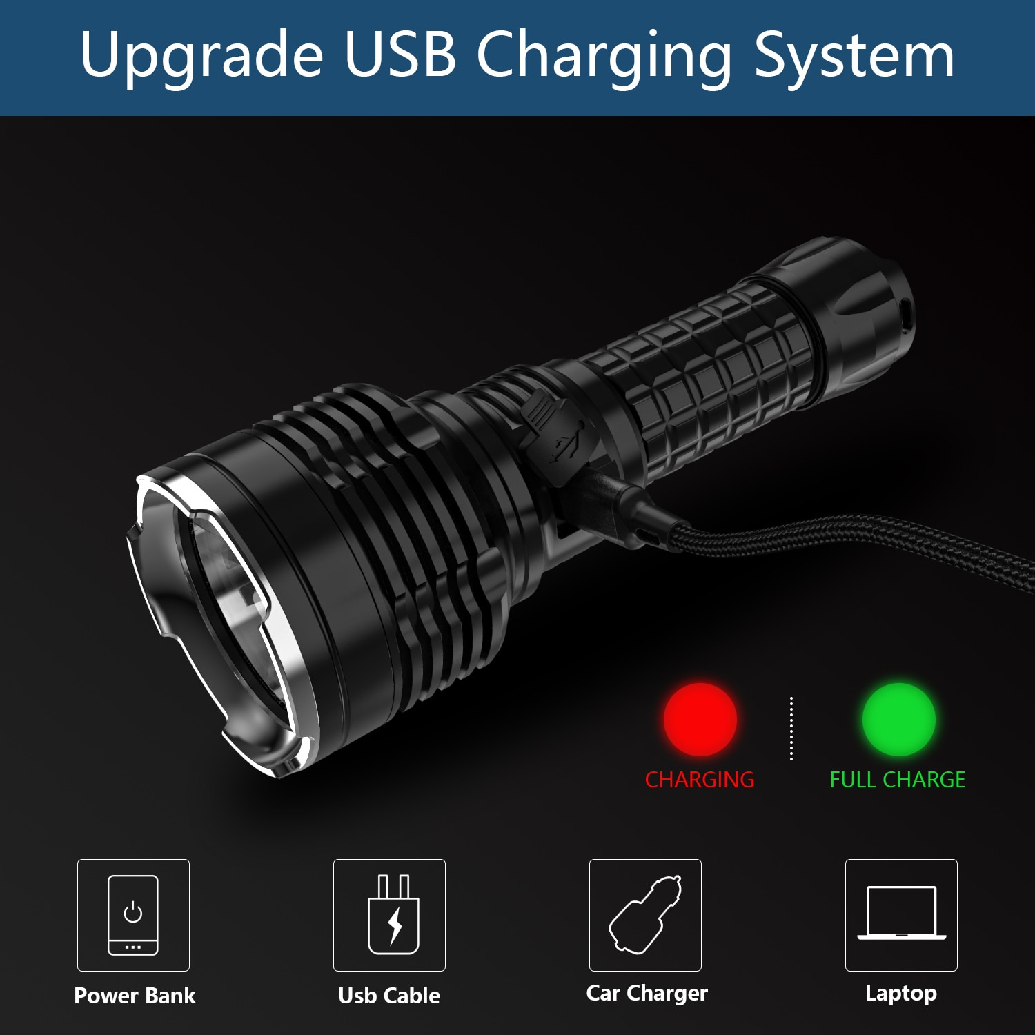 Wurkkos TS30S USB C Rechargeable 21700 Flashlight SBT90.2 Powerful LED Light 6000lm with Extra Stainless Bezel Anduril Version enlarge
