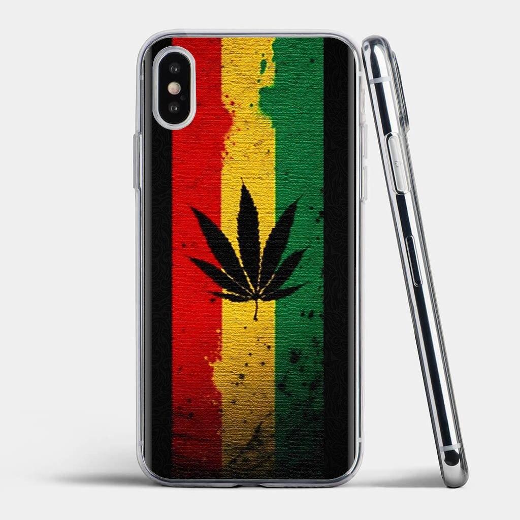 Reggae Jamaica Hojas de hierba para Samsung Galaxy A10 A30 A40 A50 A60 A70 S6 activo Nota 10 Plus M30 funda de silicona