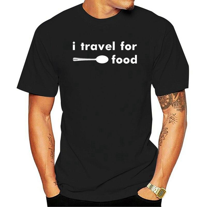 Camiseta de viaje para comida para hombre de ropa de marca de...