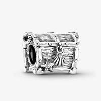 100 s925 silver new treasure box fashion magic box pan beads suitable for original pandora bracelet women diy charm jewelry