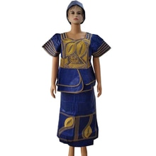 Md Traditionele Afrikaanse Kleding Pak Borduren Dashiki Tops Bazin Riche Rok Set 2019 Zuid-afrika Kleding