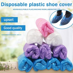 100PCS Blue Plastic Disposable Shoe Covers Outdoor Rainy Day Carpet Cleaning Shoe Cover Pouch Cleaning Overshoes Protective